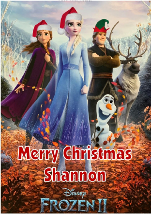 Personalised Frozen 2 Christmas Card